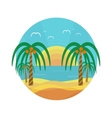Tropical beach with palm trees vector image vector image
