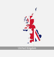 united kingdom uk map flag vector image