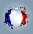 Water droplets with a French flag vector image