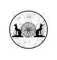 wiccan symbol protection set mandala wiccan vector image vector image
