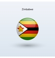Zimbabwe round flag vector image vector image