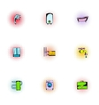 Sanitary appliances icons set pop-art style vector image
