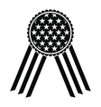 Ribbon rosette in the USA flag icon vector image