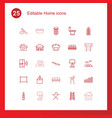 25 home icons vector image vector image