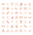 49 strength icons vector image vector image