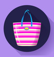 beach bag icon flat isolated on white background vector image vector image