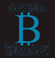 bitcoin crypto currency vector image