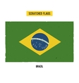 Brazilian grunge flag with little scratches on vector image vector image