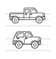 Cars coloring book for kids Pickup 4WD vector image