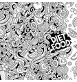 cartoon doodles diet food frame line art vector image vector image