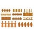 cartoon fence wooden palisade farm gates vector image