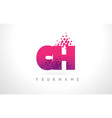 ch c h letter logo with pink purple color vector image vector image
