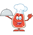 Chef Steak Cartoon vector image vector image