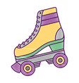 classic roller skate laced wheels retro fashion vector image vector image