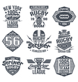 College team rugby retro vintage emblems vector image vector image
