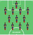 Computer game Ecuador Football club player vector image vector image