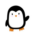 cute a penguin cartoon vector image vector image