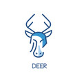 deer logo design blue label badge or emblem with vector image