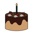 delicious cake bakery icon vector image vector image