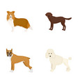 dog laika beagle and other web icon in cartoon vector image vector image