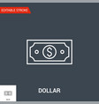 dollar related line icon vector image vector image