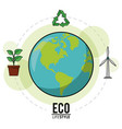 eco lifestyle earth world recycle energy nature vector image vector image