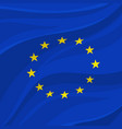 european union flag or banner of europe vector image vector image