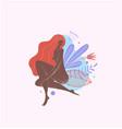 feminine concept beautiful vector image vector image