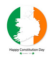 flag of ireland constitution day december 29 vector image