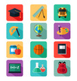 flat design education icons vector image