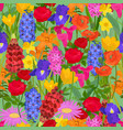 floral background flowery vector image vector image