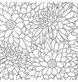 floral tile pattern flower chrysanthemums line art vector image