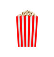 fresh popcorn mockup realistic style vector image vector image