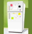 fridge with notes vector image vector image