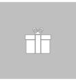 Gift box computer symbol vector image vector image
