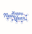 happy new year festive lettering written with vector image