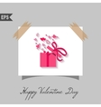 Happy valentines day cards with gift on background vector image vector image