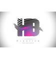 hd h d zebra texture letter logo design vector image vector image