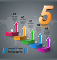 infographics up the ladder to success business vector image