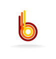 Letter B logo vector image vector image