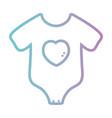 line baby pijama clothes design vector image vector image