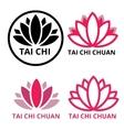 logo tai chi lotus vector image vector image