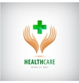 Medical pharmacy cross logo design template vector image