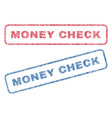 money check textile stamps vector image vector image