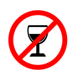 No alcohol sign on white background vector image vector image