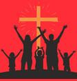 people worshiping god vector image vector image