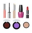 Realistic makeup cosmetics set vector image vector image