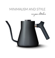 Realistic teapot or kettle for tea and coffee in vector image