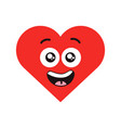 red smiling heart vector image vector image