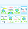 set of earth day labels vector image vector image